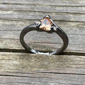 Women Rings Black Tone Fashion Jewelry Rings Heart